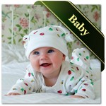 baby clothes, bedding and nappies